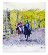 Horseback Riding  Fleece Blanket