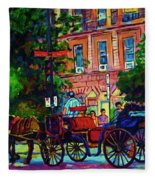Horsedrawn Carriage Fleece Blanket