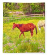 Horses Paradise Fleece Blanket