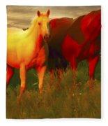 Horses Soft And Sweet Fleece Blanket