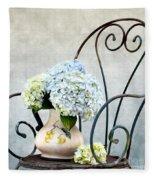 Hortensia Flowers Fleece Blanket