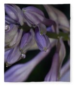 Hosta Blossoms With Dew Drops 6 Fleece Blanket