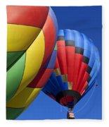 Hot Air Ballons Fleece Blanket