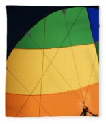 Hot Air Balloon Rigging Fleece Blanket