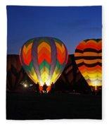 Hot Air Balloons At Dusk Fleece Blanket