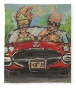 Hot Fun Corvette Fleece Blanket