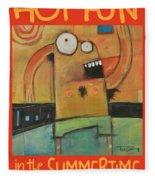 Hot Fun In The Summertime Poster Fleece Blanket
