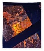 Hot Rust Fleece Blanket