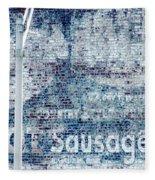 Hot Sausage Fleece Blanket