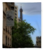 Hotel Eiffel Fleece Blanket