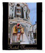 Hotel Negresco France Fleece Blanket
