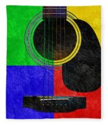 Hour Glass Guitar 4 Colors 1 Fleece Blanket