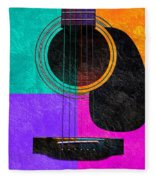 Hour Glass Guitar 4 Colors 2 Fleece Blanket