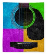 Hour Glass Guitar 4 Colors 3 Fleece Blanket