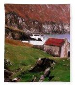 House At The Coast Fleece Blanket