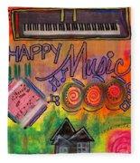 House Of Happy Music Fleece Blanket