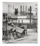 Houses And Steelmill Fleece Blanket