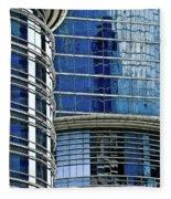 Houston Architecture 1 Fleece Blanket