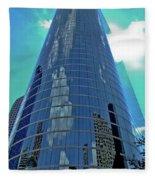 Houston Architecture 2 Fleece Blanket
