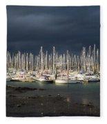 Howth Yacht Club Marina, Co Dublin Fleece Blanket