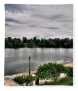 Hoyt Lake Delaware Park 0002 Fleece Blanket