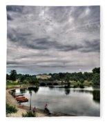 Hoyt Lake Delaware Park 0003 Fleece Blanket
