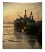 Huddled Boats Fleece Blanket