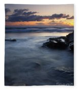 Hug Point Sunset Fleece Blanket