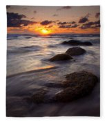 Hug Point Tides Fleece Blanket