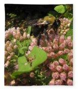 Huge Bumble Bee Fleece Blanket