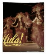 Hula Daguerreotype Fleece Blanket