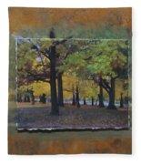 Humboldt Park Trees Layered Fleece Blanket