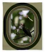Hummingbird - Card - Glint Of The Eye Fleece Blanket