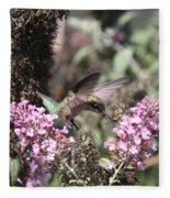 Hummingbird - Ruby-throated Hummingbird - Chopper Fleece Blanket