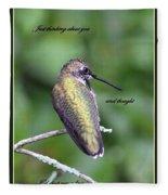 Hummingbird - Thinking Of You Fleece Blanket