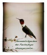 Hummingbird - Cards Fleece Blanket