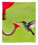 Hummingbird Drinking Fleece Blanket