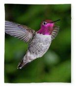 Hummingbird Glory Fleece Blanket