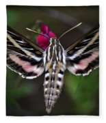 Hummingbird Moth - White-lined Sphinx Moth Fleece Blanket