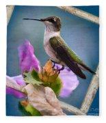 Hummingbird Picture Pretty Fleece Blanket