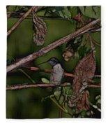 Hummingbird Waiting For Dinner Fleece Blanket