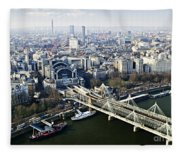 Hungerford Bridge Seen From London Eye Fleece Blanket