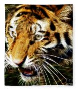 Hungry Tiger Fleece Blanket