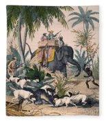 Hunting: Big Game, 1852 Fleece Blanket