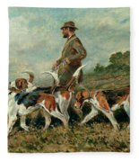 Hunting Exercise Fleece Blanket