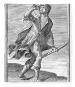 Hunting Horn, 1723 Fleece Blanket