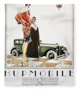 Hupmobile Ad, 1926 Fleece Blanket