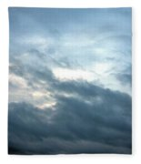 Hurricane Isaac Storm Clouds Fleece Blanket