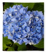 Blue Hydrangea Fleece Blanket