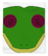 Hypno Frog Fleece Blanket